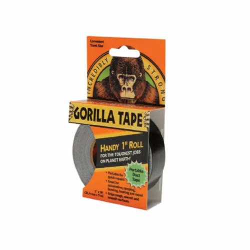 Gorilla 3044401 Tape Handy Roll Black 25mm x 9m